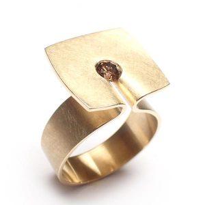 18 krt geelgouden ring