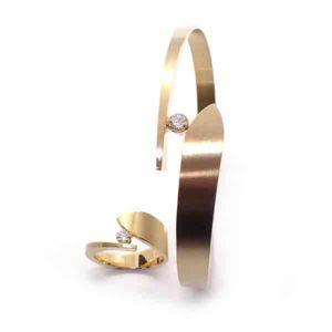 leaf ring armband